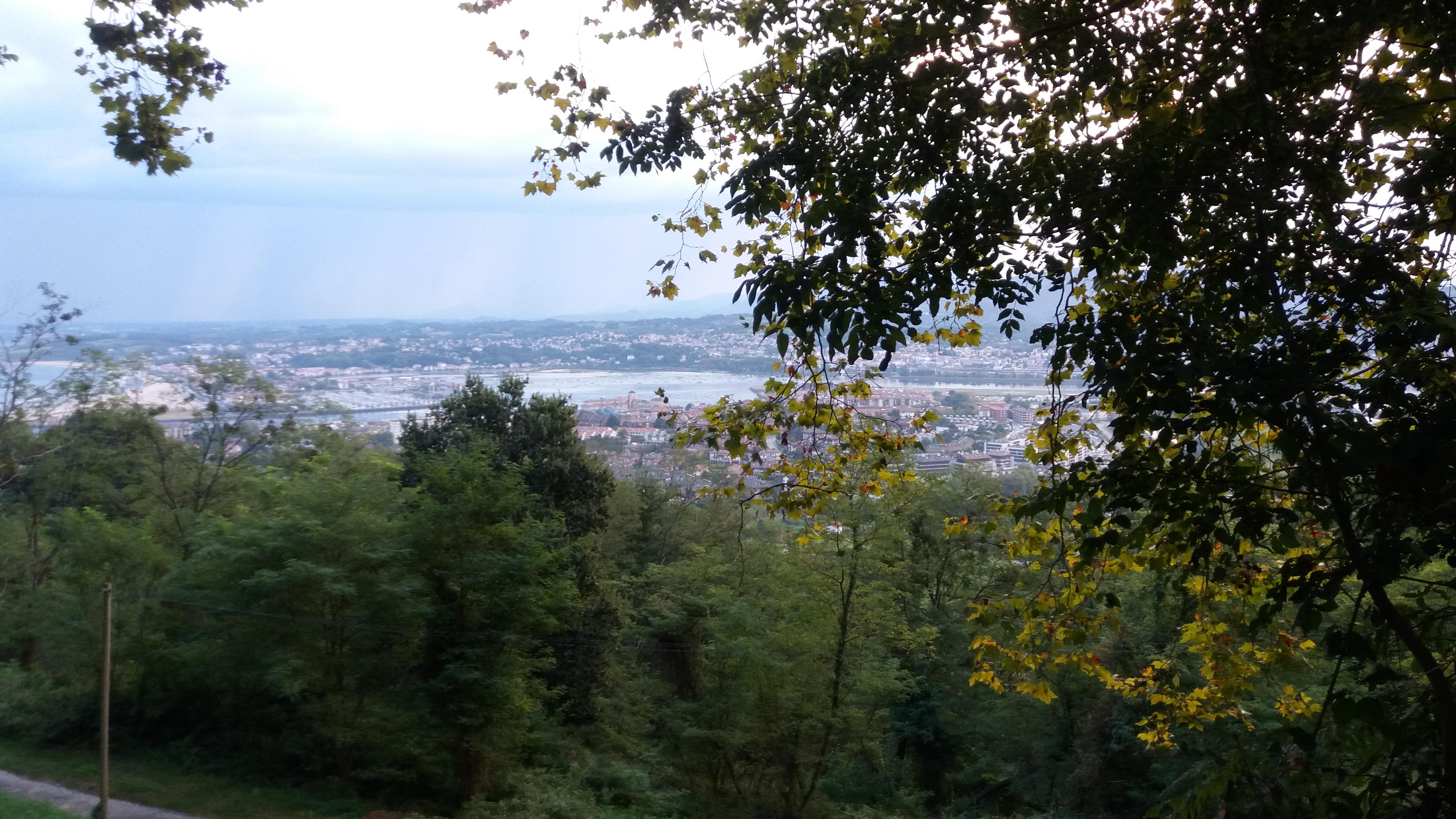View of Irun and Hendaye