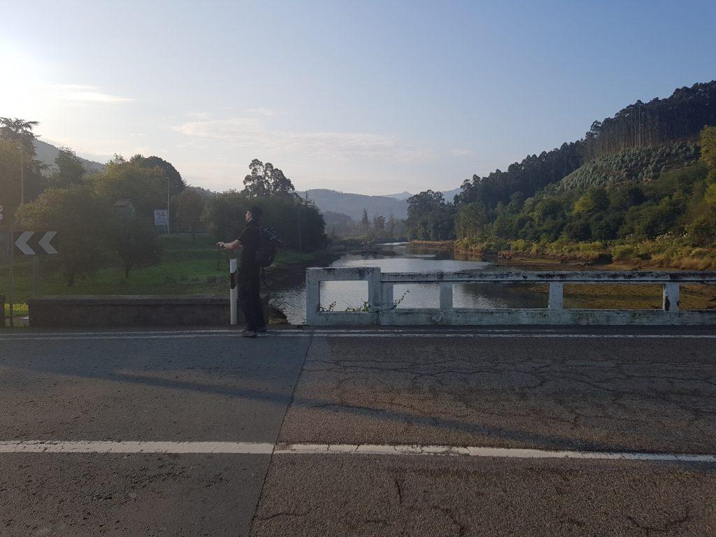 Auf der Brücke bei El Puntarron
