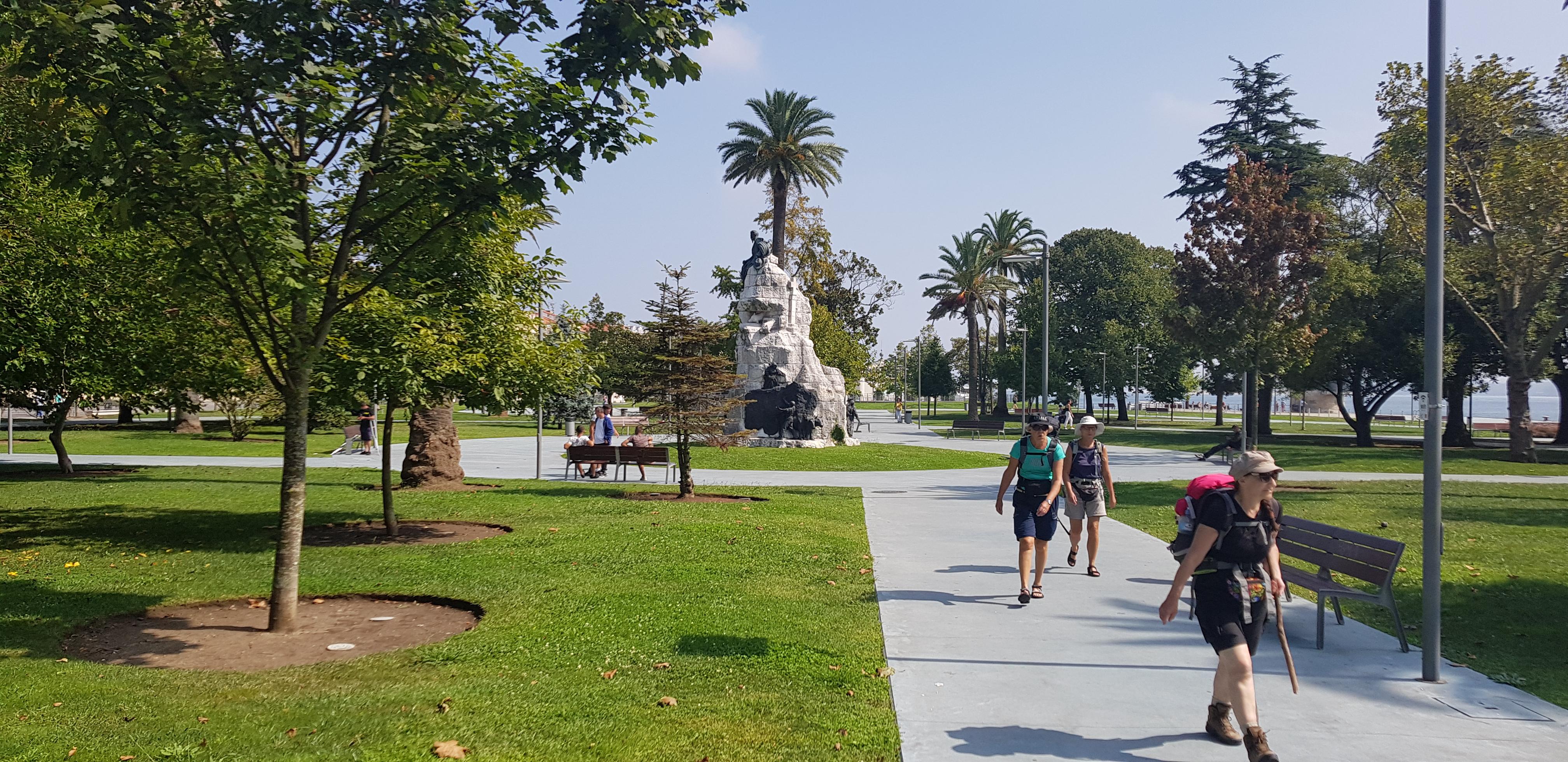 Das Cervantes-Denkmal im Jardines de Pereda